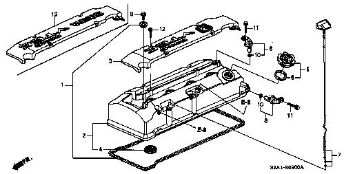 12310 pcx 000 cover p cylinder head s2000 honda part S2000 Mugen Top part detail