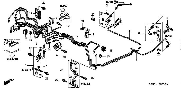 Схема тормозной системы срв