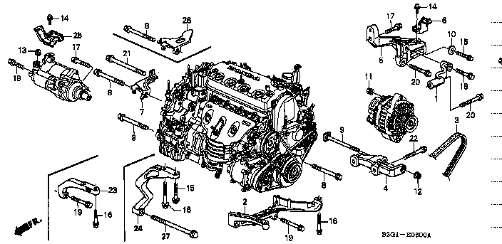 Схема системы охлаждения d15b