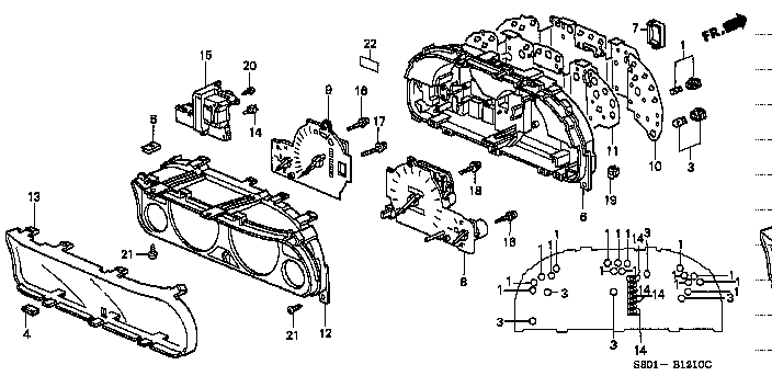 1 Panel Genuine Honda 78146-S30-J01 Combination Print