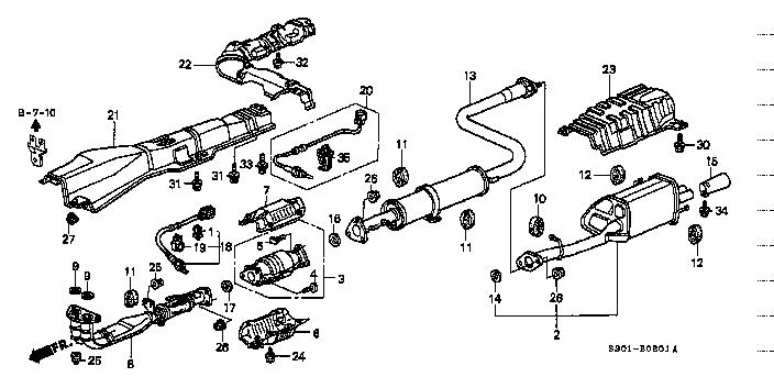 18220 S30 N21 Pipe B Exhaust Prelude Honda