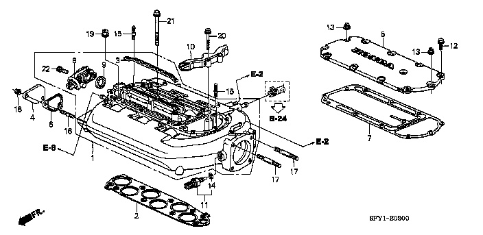 Intake Manifold Gasket Genuine Honda 17105-RCJ-A01