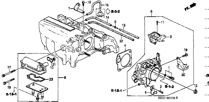 16111 Pm6 005 Diaphragm Assy Dash Pot Civic 3d Honda