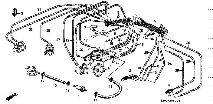 Схема карбюратора на хонда аккорд