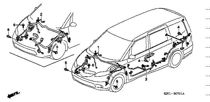 dba rr3 honda fig list jp carparts com rh jp carparts com wiring diagram 2004 honda odyssey wiring diagram for honda odyssey 2007
