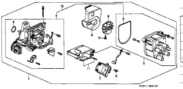 distributor tec honda part list jp carparts com rh jp carparts com Honda Civic Wiring Diagram Honda Civic Sensor Diagram