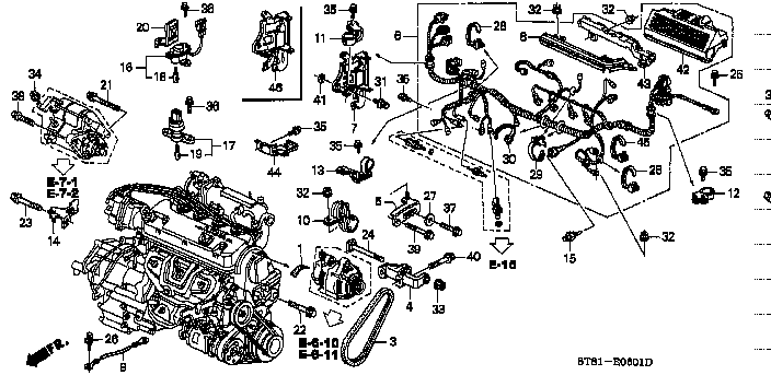 engine wire harness sohc honda part list jp carparts com rh jp carparts com Car Wiring Harness Car Wiring Harness