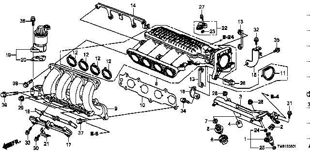 Genuine Honda 17146-RB0-004 EGR Chamber Cover Gasket