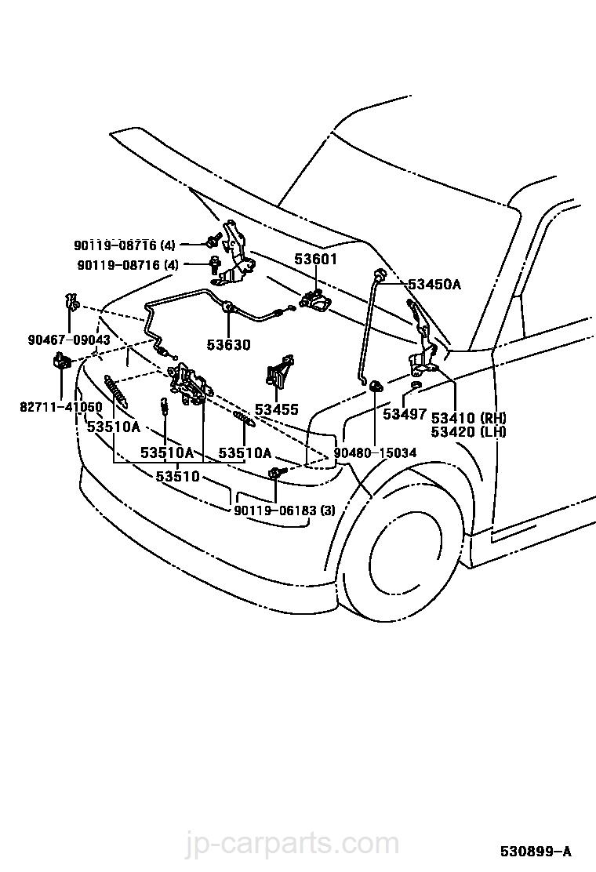 Genuine Toyota Hinge 53410-52040