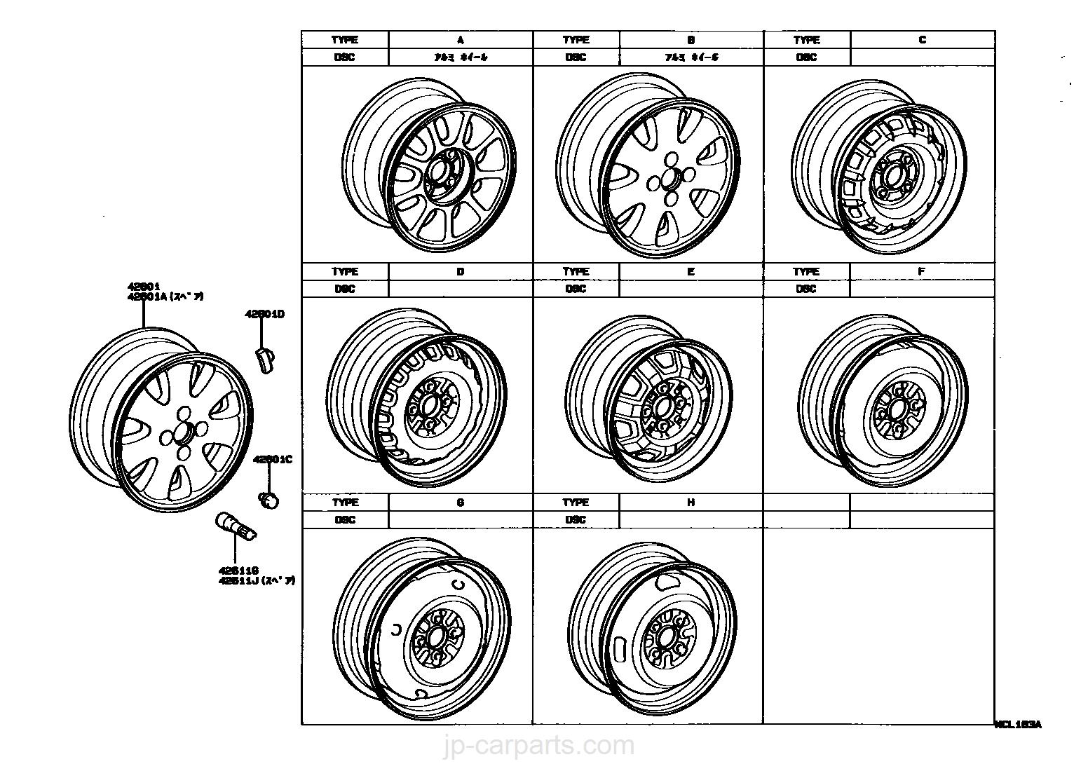 TOYOTA 90080-42114 Wheel Weight