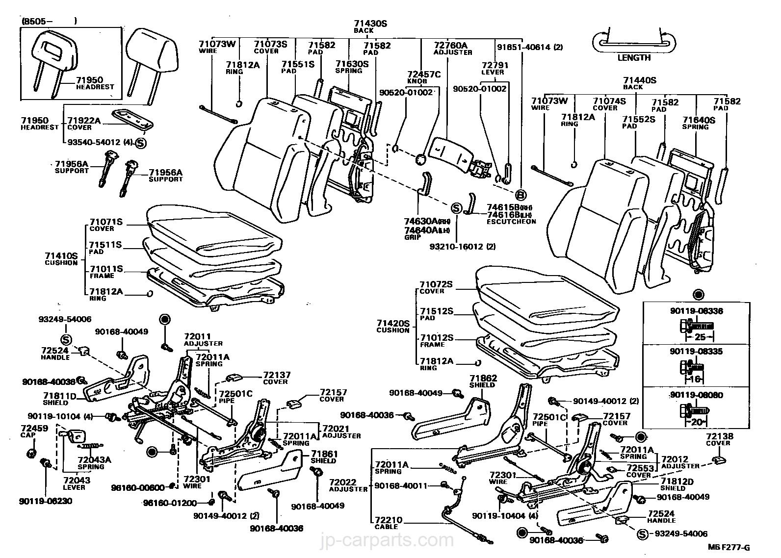 FRONT SEAT & SEAT TRACK / toyota | part list|JP-CarParts.com on fxr transmission diagram, fxr turn signals, fxr ford, fxr oil cooler, 2003 fxdl harley-davidson starter diagram,