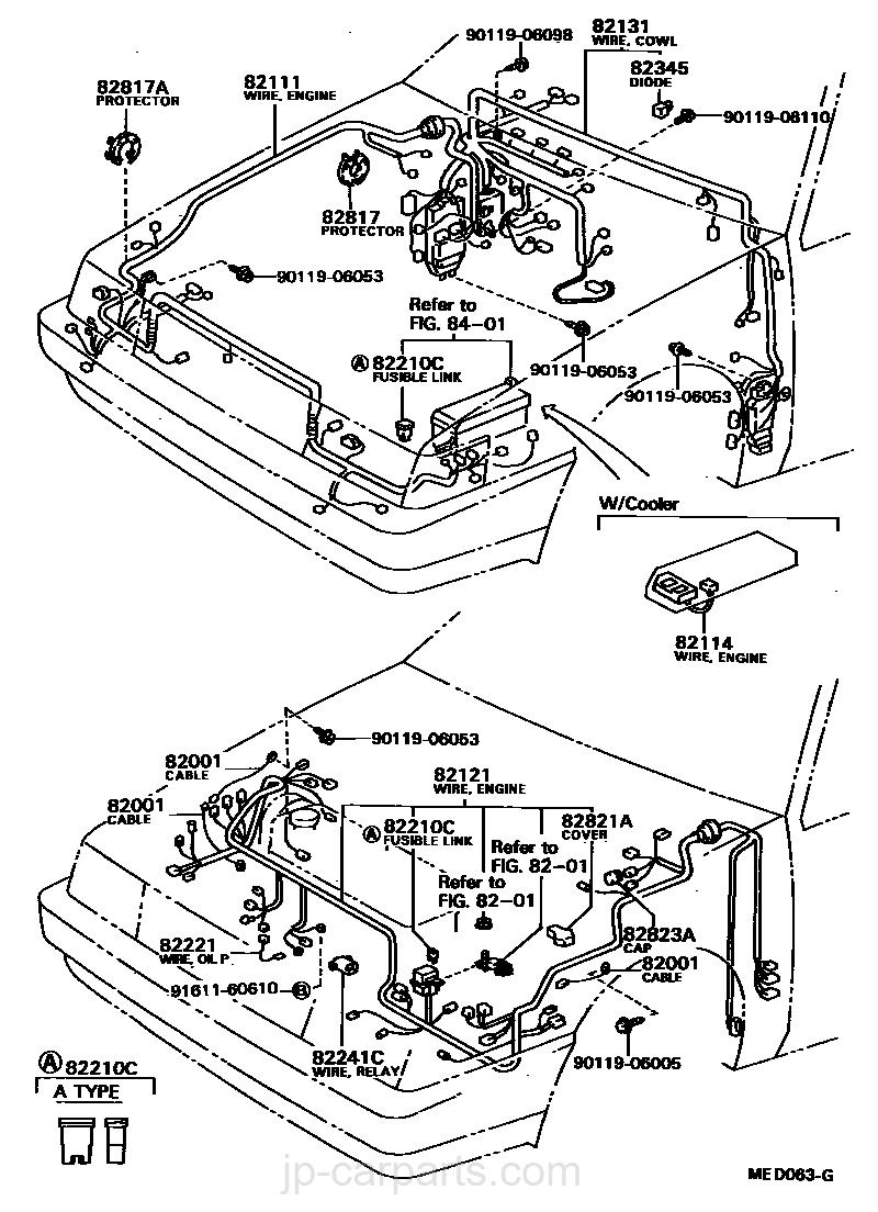 WIRING & CLAMP / toyota | part list|JP-CarParts.com on fxr transmission diagram, fxr turn signals, fxr ford, fxr oil cooler, 2003 fxdl harley-davidson starter diagram,