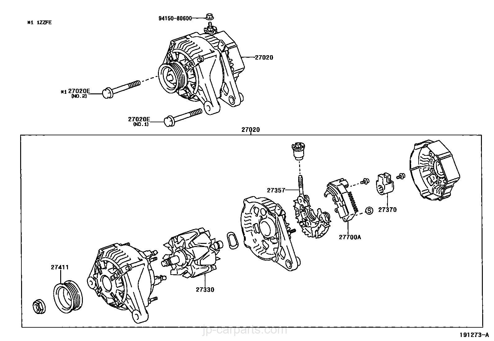 Alternator Toyota Part List|jp Carparts Com 2007 Toyota Corolla Engine  Diagram 1zz Fe Engine Diagram Alternator