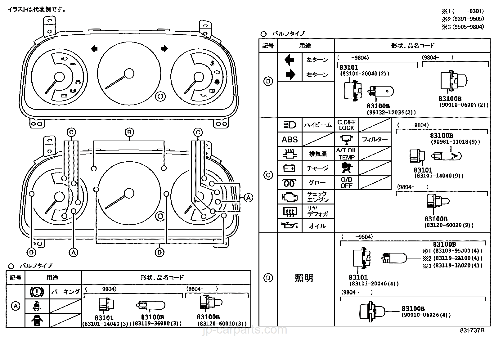 152130_8301_0004 meter toyota part list|jp carparts com yazaki meter wiring diagram at aneh.co