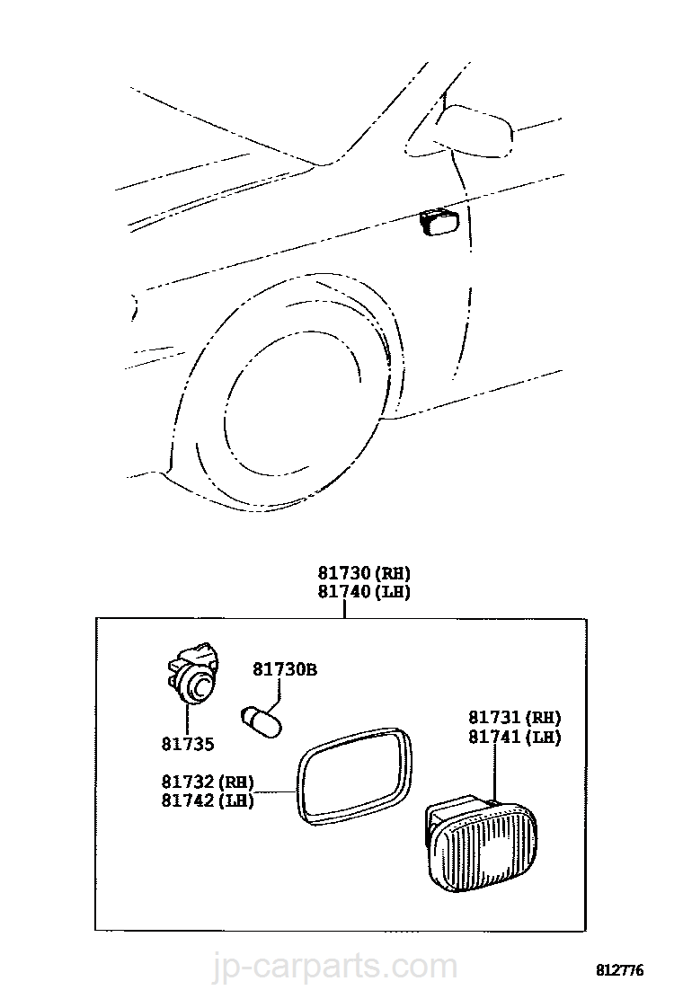 Side Turn Signal Lamp Outer Mirror Toyota Part Listjp Nze121 Corolla Wiring Diagram Select Image Size