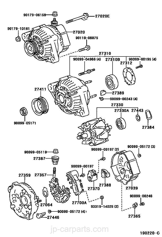 ALTERNATOR / toyota | part list|JP-CarParts com