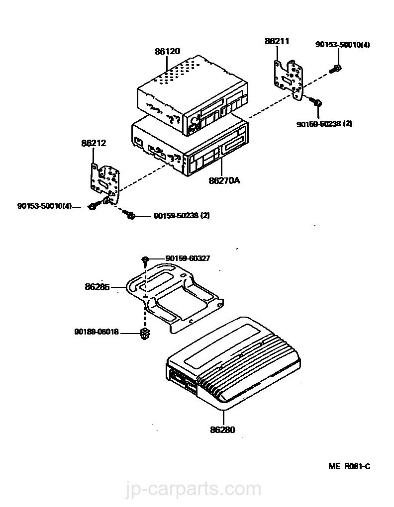 Radio Receiver Amplifier Condenser Toyota Part Listjp Lexus 86120 Wiring Diagram Select Image Size