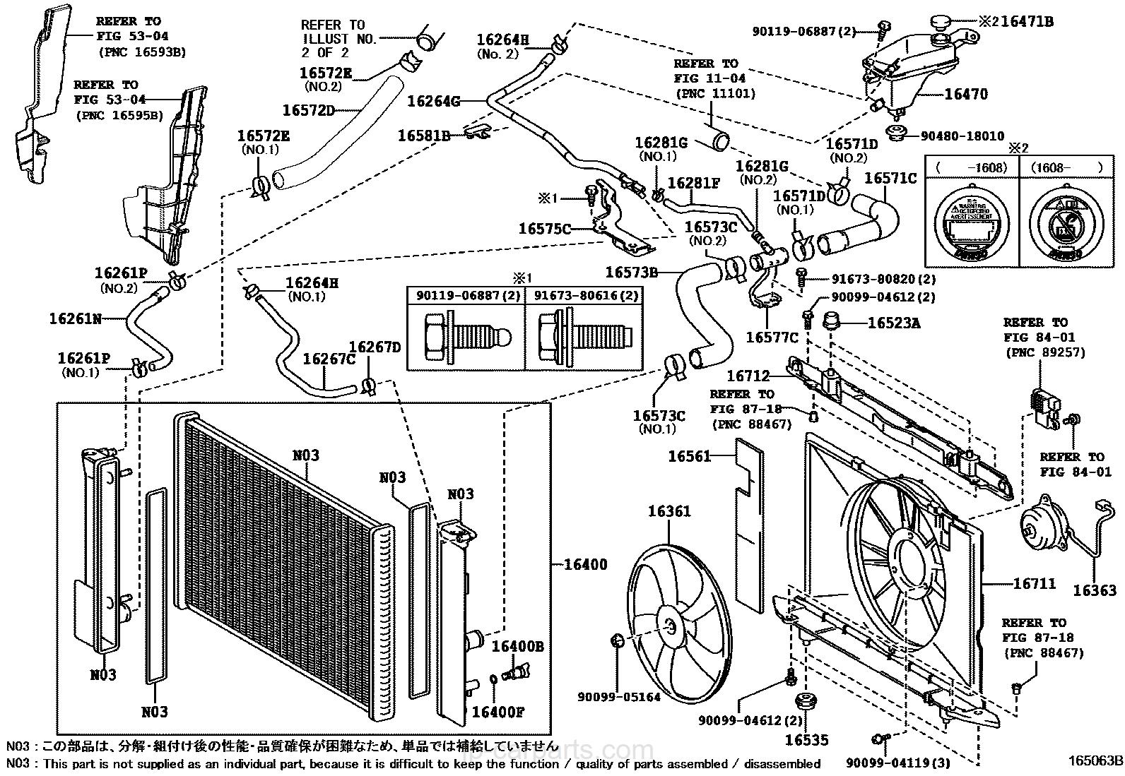 RADIATOR & WATER OUTLET / toyota | part list|JP-CarParts.com