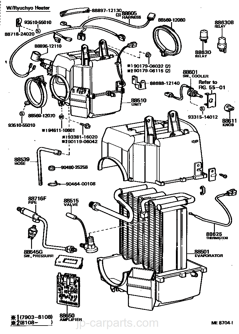 Heating Air Conditioning Cooler Unit Toyota Part Listjp Ke70 Wiring Diagram Select Image Size