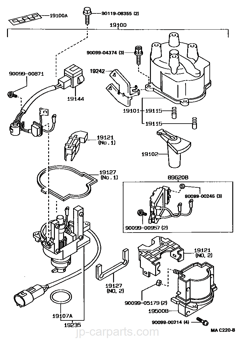 toyota 5a fe transmission parts diagram great installation of Toyota W Transmission distributor toyota part list jp carparts rh jp carparts 88 toyota w56 transmission diagram