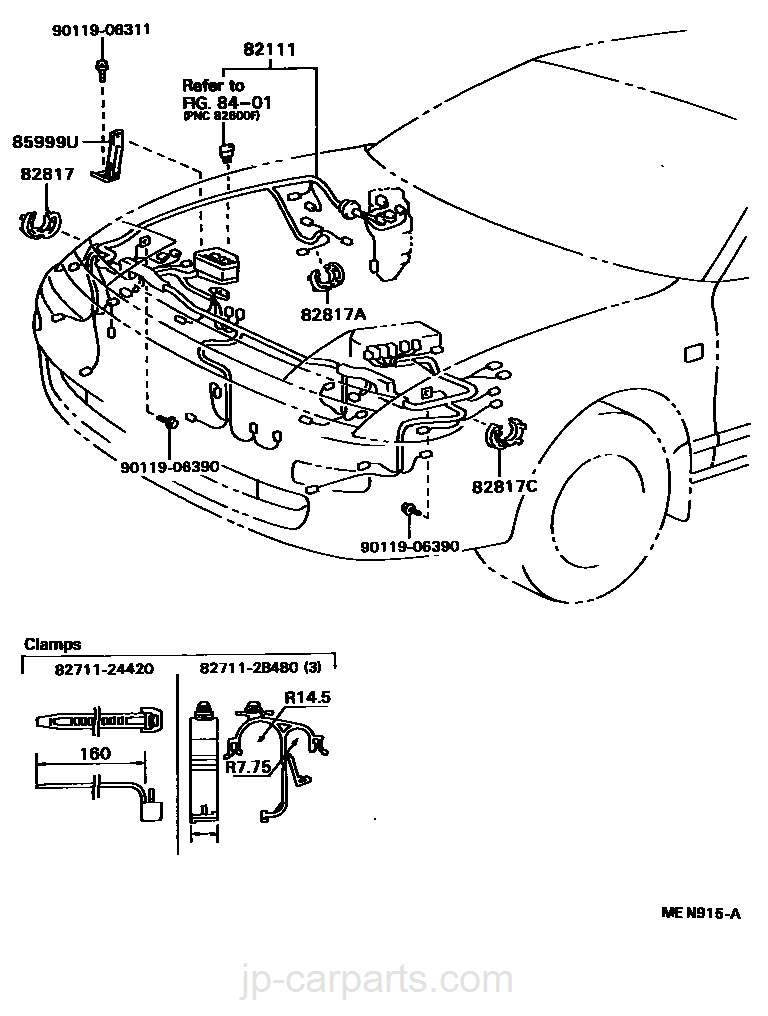 Wiring Clamp Toyota