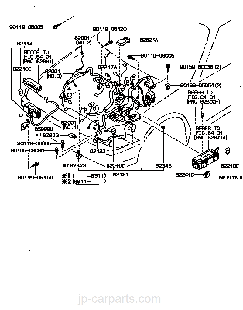 Toyota Corona St170 Wiring Diagram Jp Clamp Part List Carparts Com
