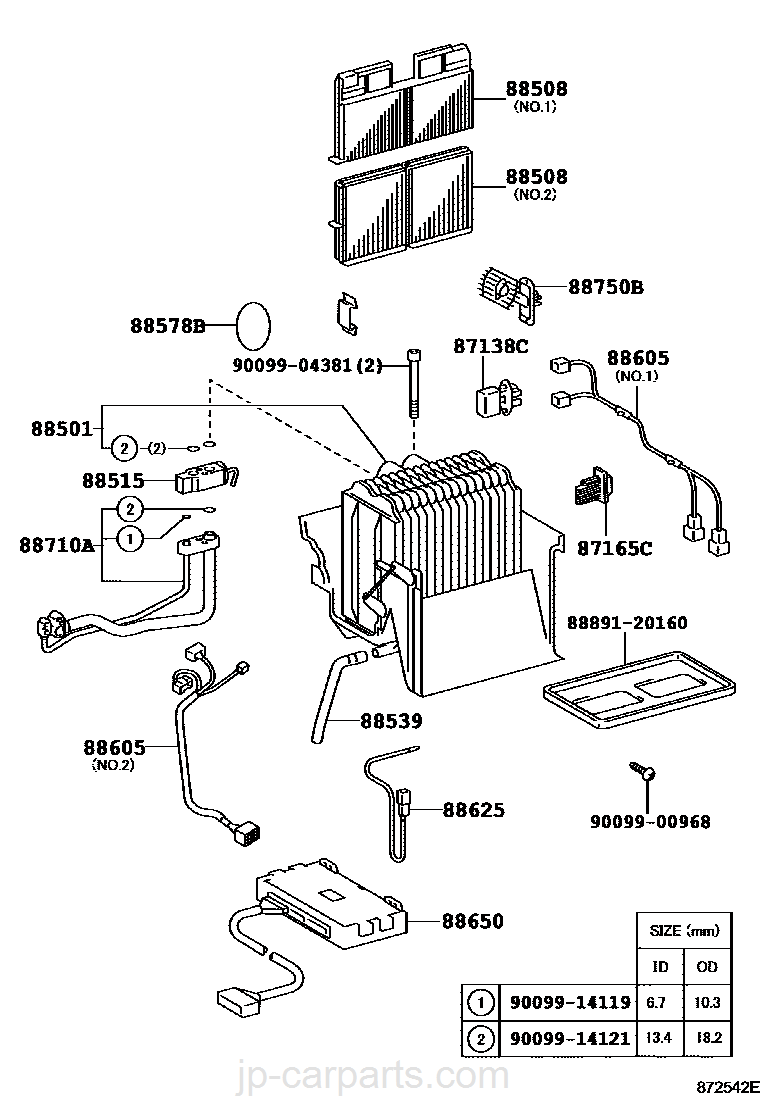 Heating Air Conditioning Cooler Unit Toyota Part Listjp Caldina Wiring Diagram Select Image Size