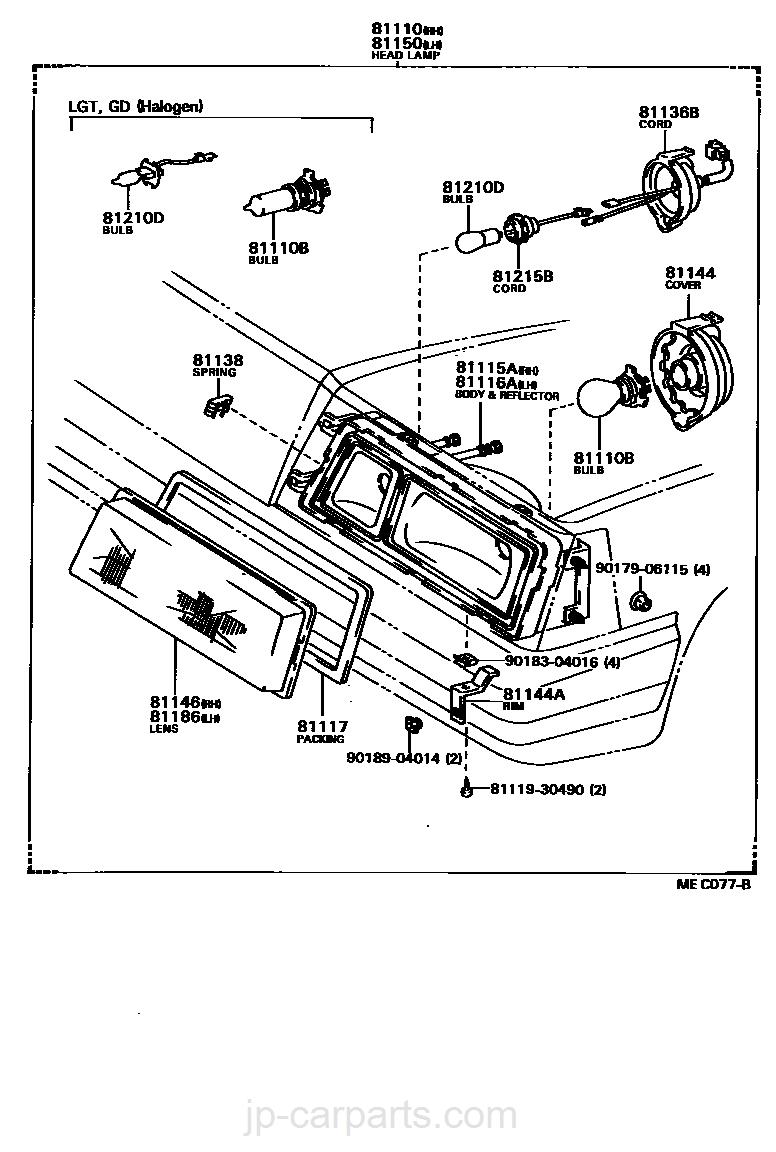 Toyota 81113-14370 Headlamp Mounting Ring