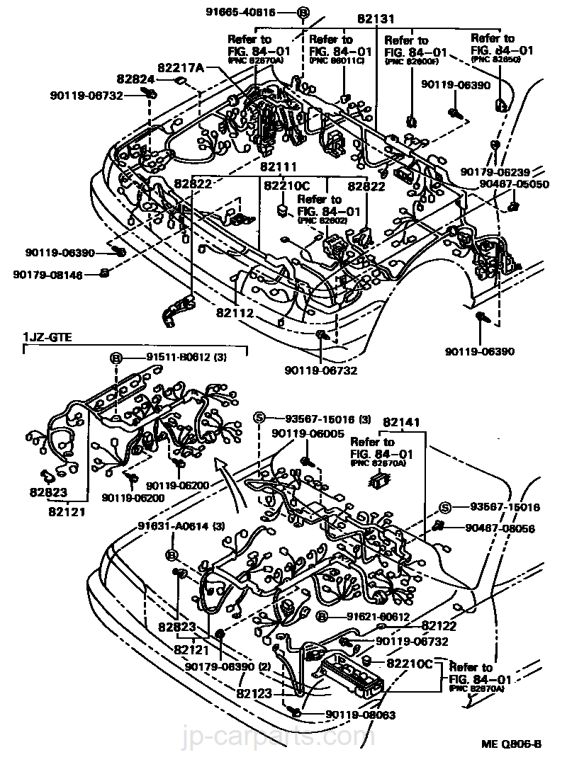 wiring cl toyota part list jp carparts Electrical Wiring select image size