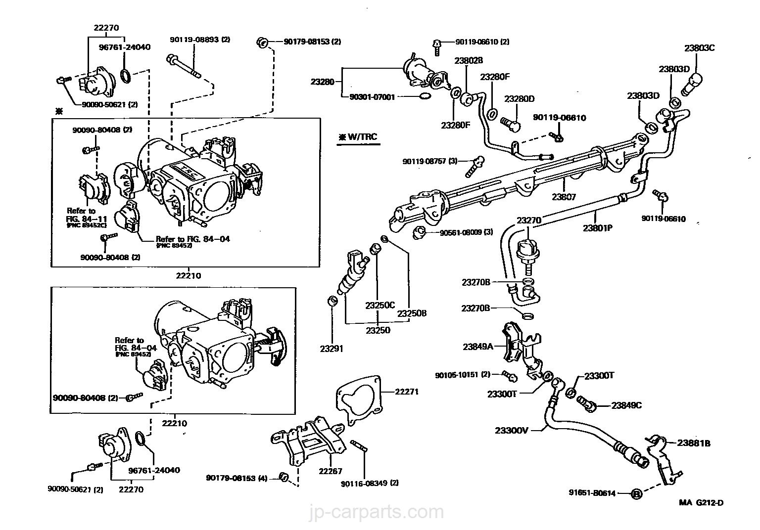 FUEL INJECTION SYSTEM / toyota | part list|JP-CarParts com