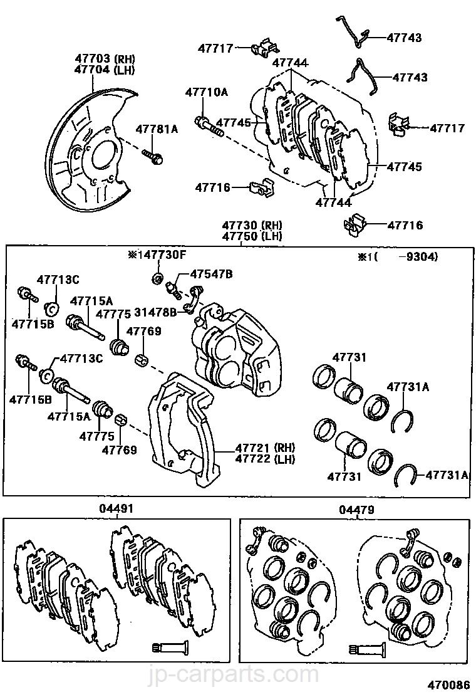 Fits TOYOTA SOARER UZZ3/_ Brake Caliper Slide Pin Brakes
