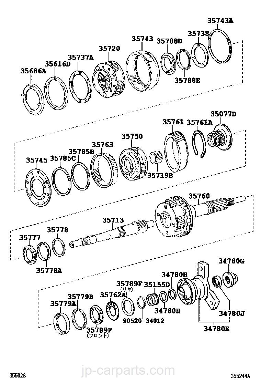 35789-50120 Race Genuine Toyota Parts Thrust Bearing