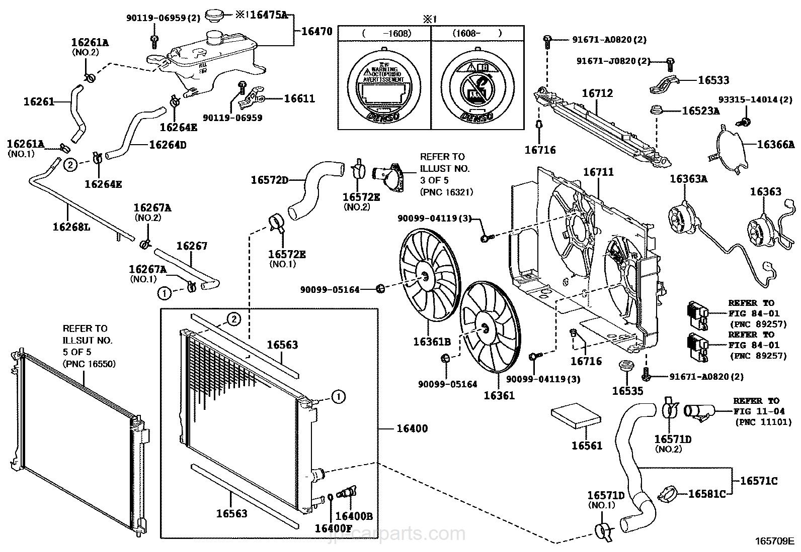 radiator  u0026 water outlet    lexus
