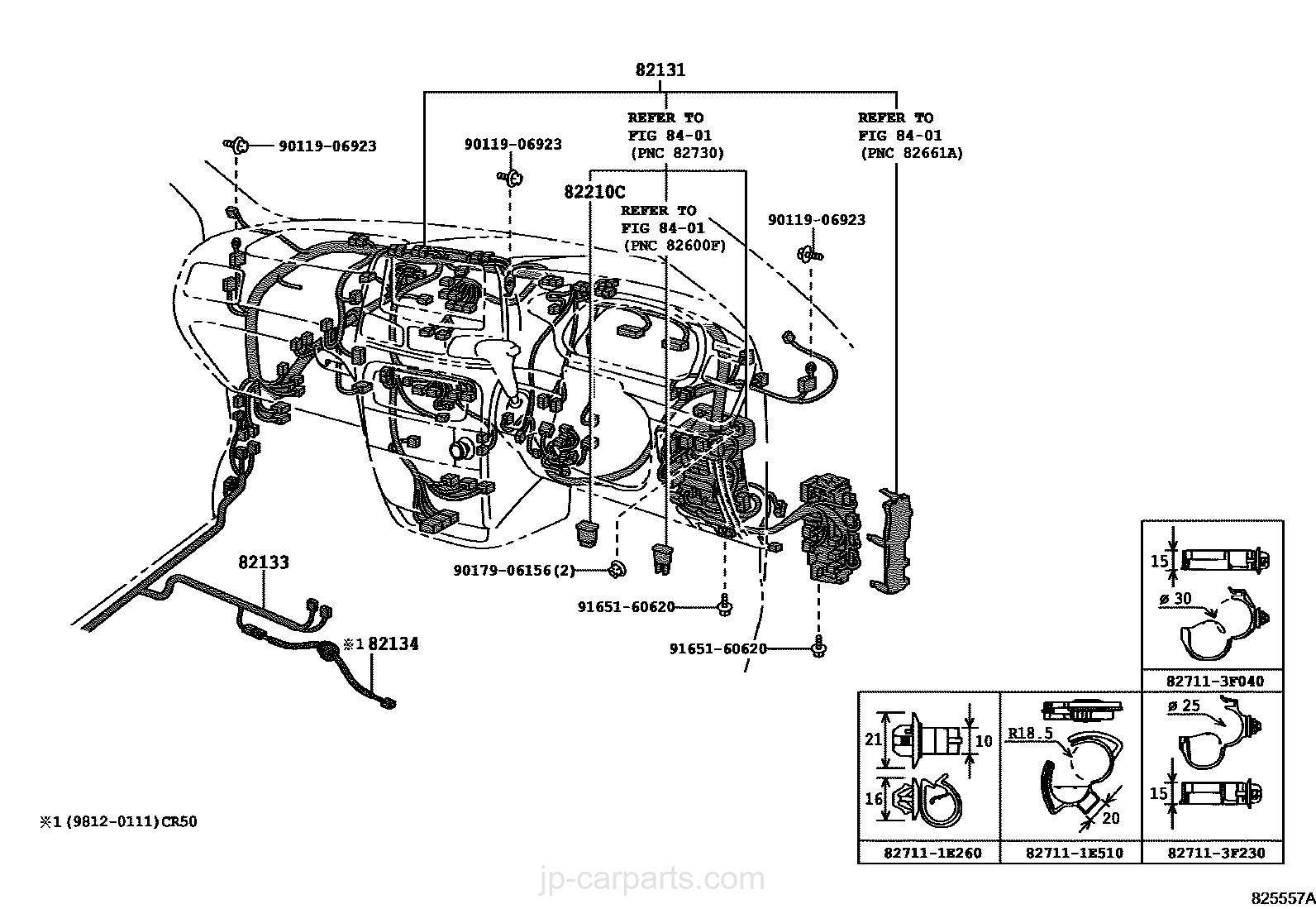 WIRING & CLAMP / toyota   part list JP-CarParts.com
