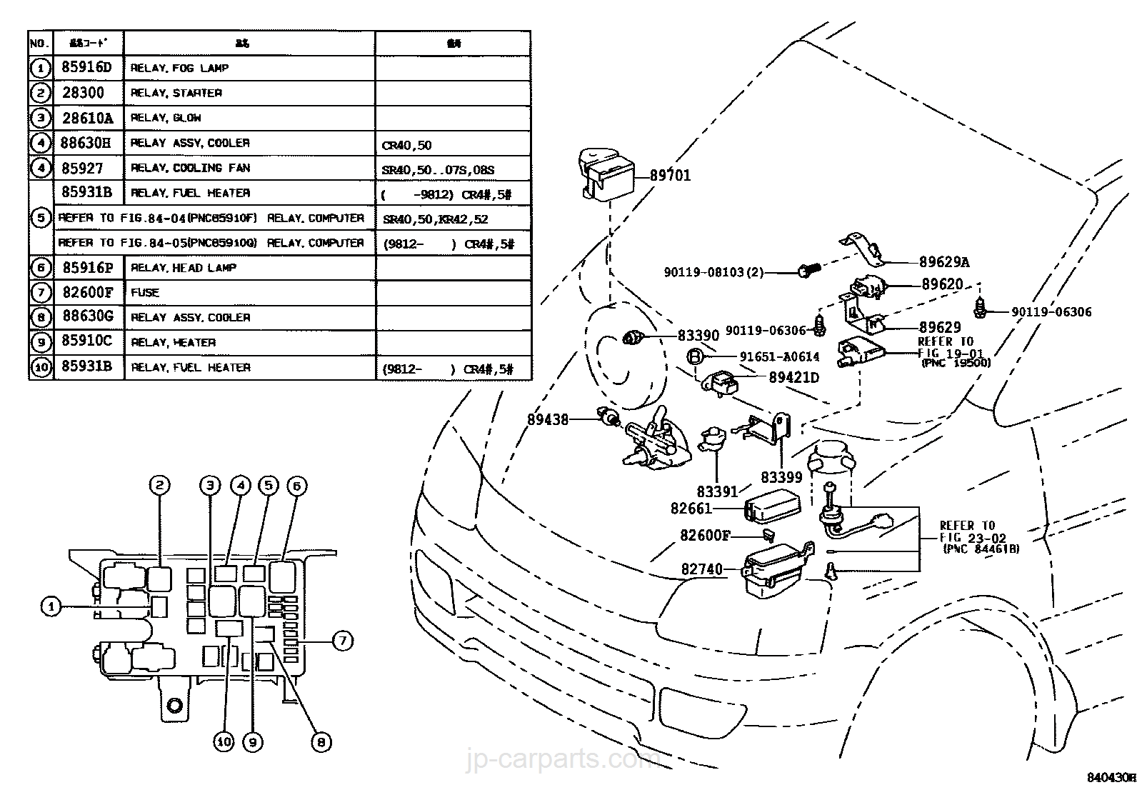 Toyota Kr42 Wiring Diagram Diagrams Jp Switch Relay Computer Part List Carparts Com Rh Liteace