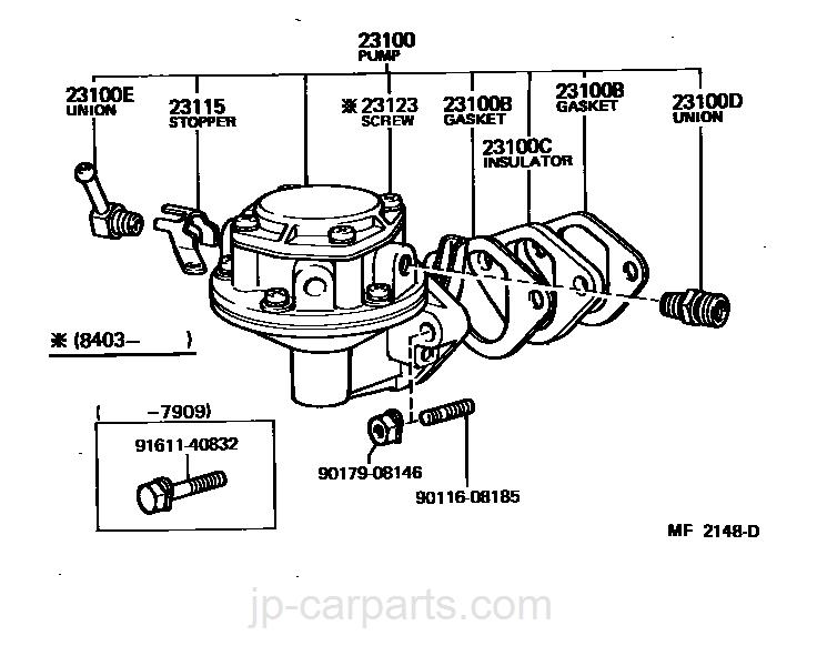 Fuel Pump Pipe Toyota