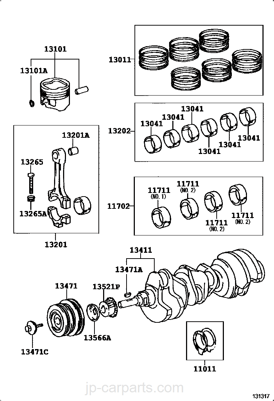 Engine Connecting Rod Nut Toyota 90179-08118