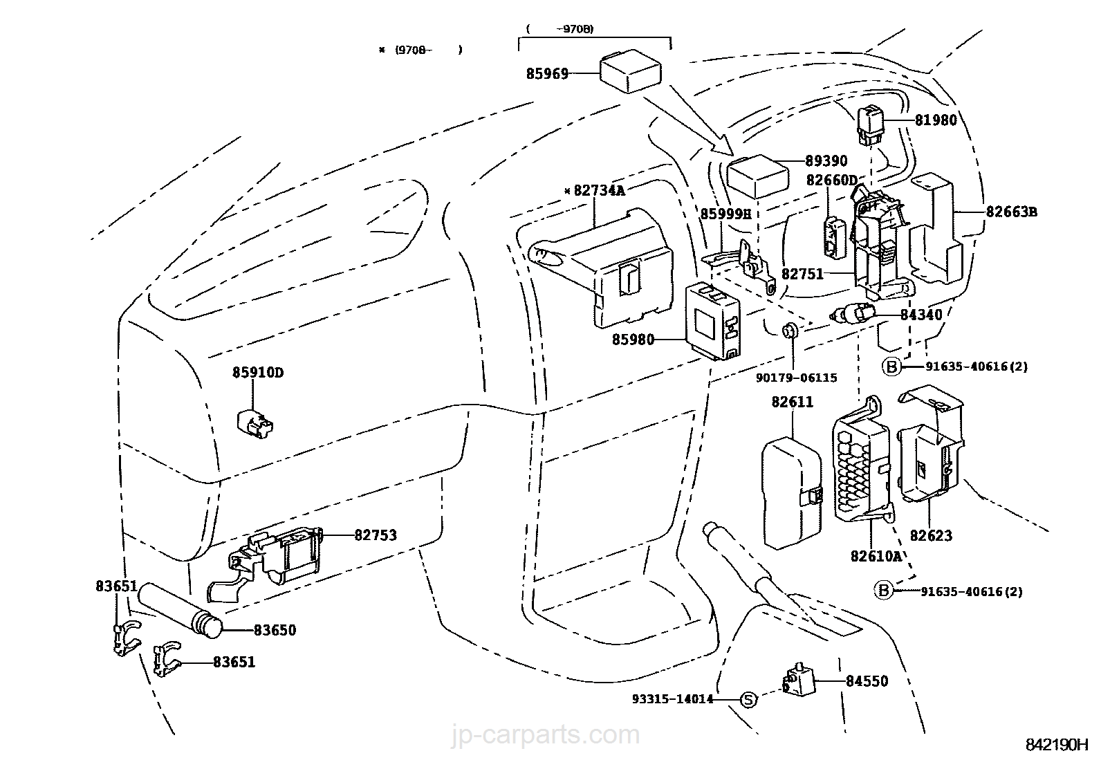 switch relay computer toyota part list jp carparts com rh jp carparts com 1995 toyota hiace fuse box diagram 2008 toyota hiace fuse box diagram
