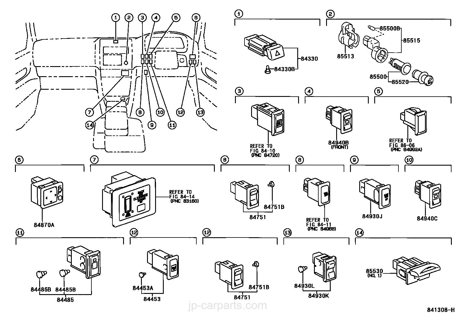 90982 09013 Fuse Block Granvia Grand Hiace Toyota Part Box Diagram Parts Detail