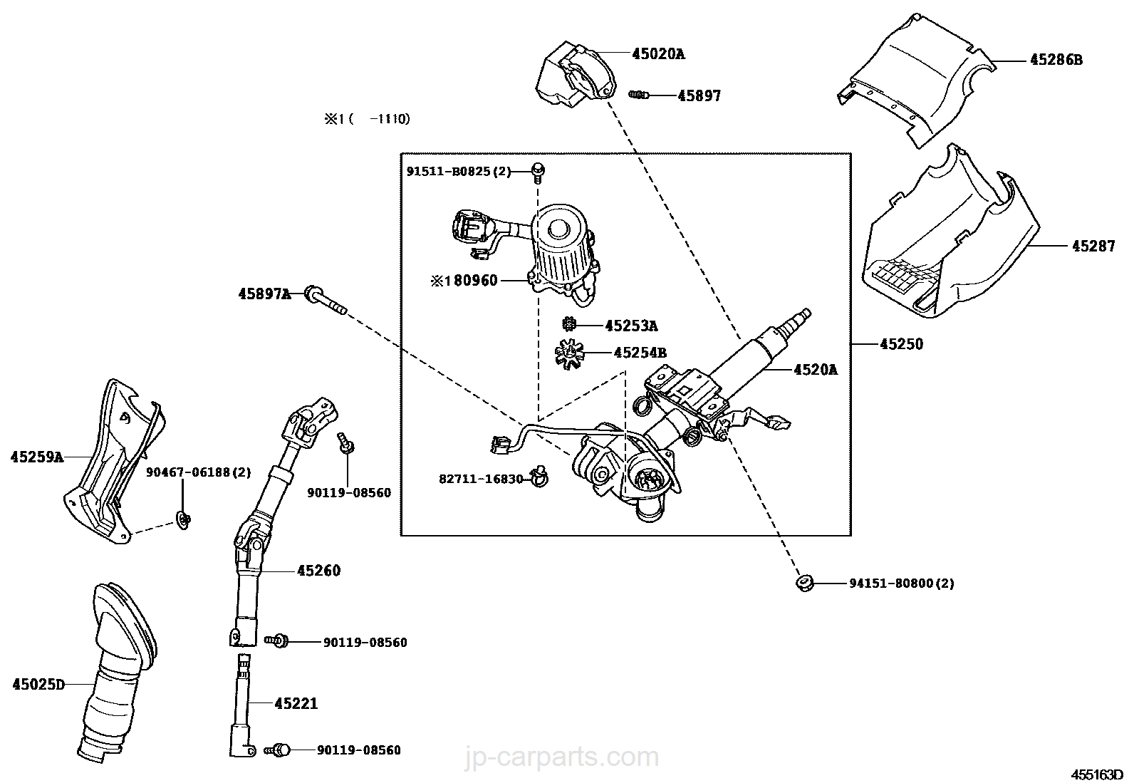 steering column & shaft / toyota | part list|jp-carparts.com reese fifth wheel hitch parts diagram jp parts diagram