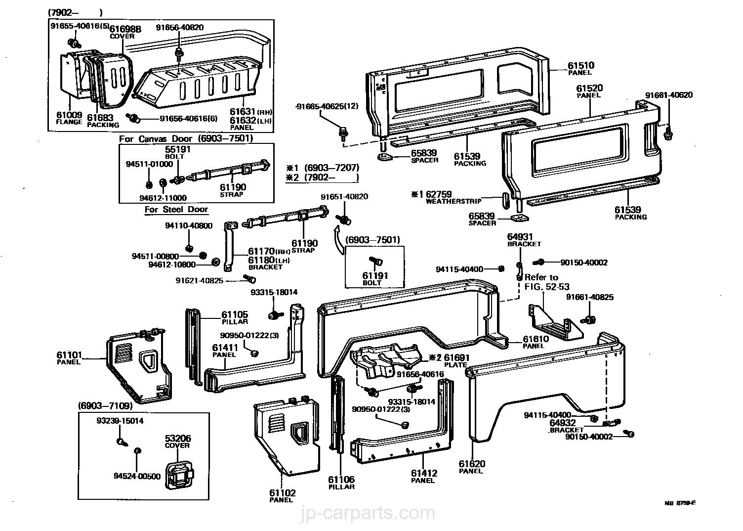 fj40 body diagram