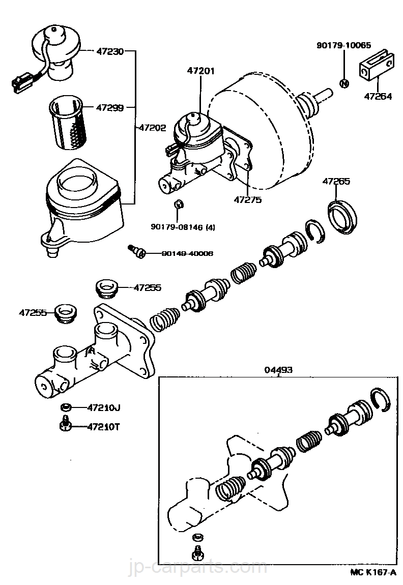 791140_4702_0001 brake master cylinder toyota part list|jp carparts com