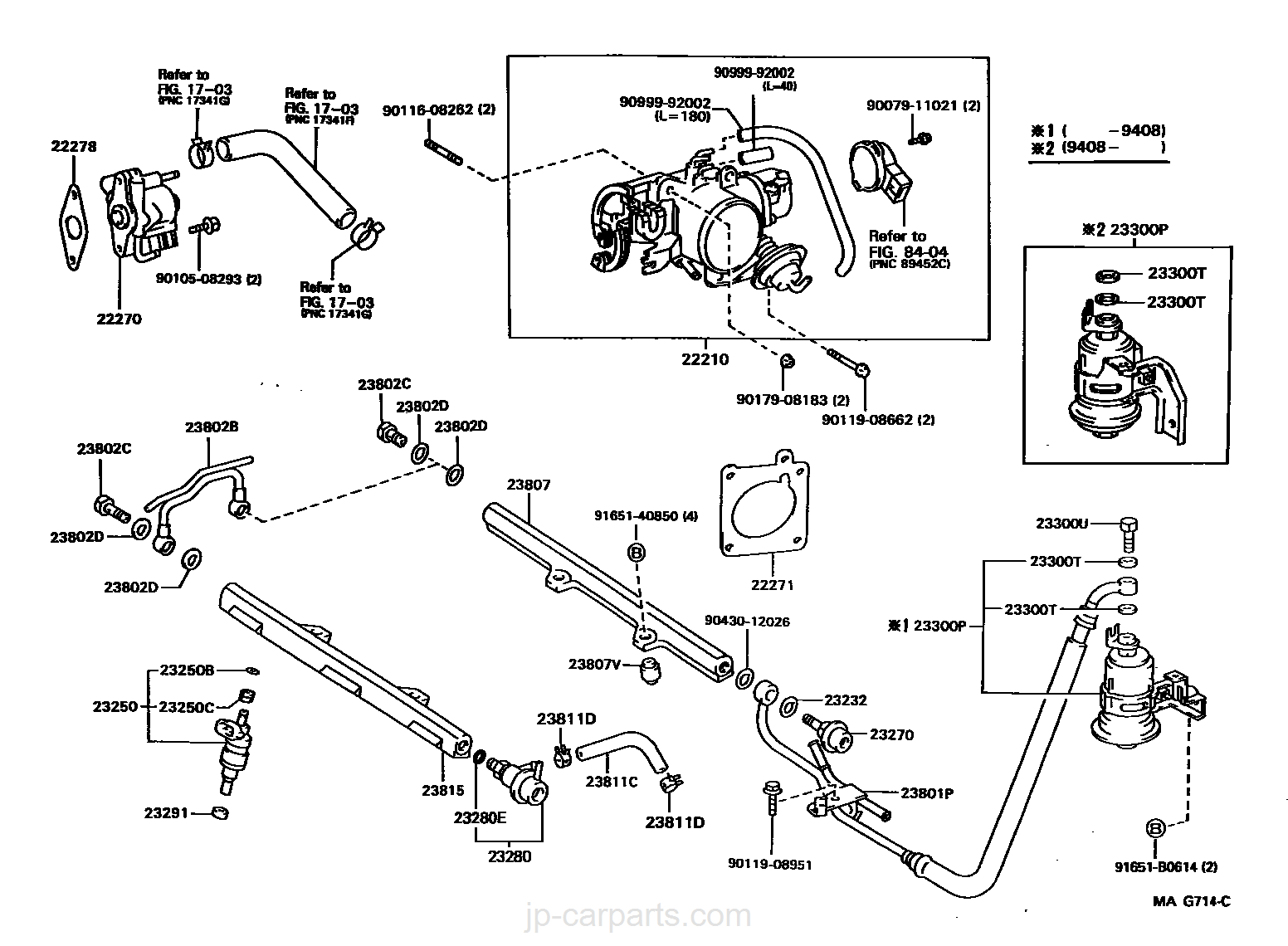 Genuine Toyota Gasket Throttle Bod 22271-62030