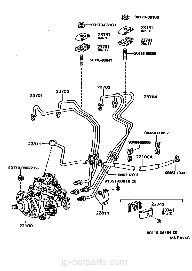 2381154191 PIPE FUEL FOR FUEL FILTER TO INJECTION PUMP