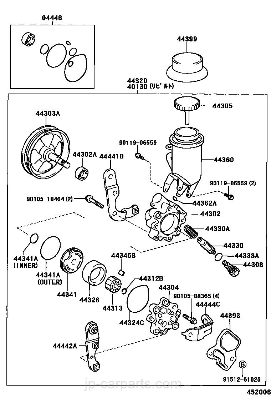 Vane Pump Reservoir Power Steering Toyota Part Listjp Diagram Select Image Size