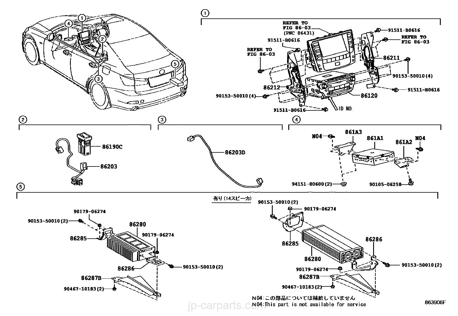 Pioneer 86280 50010 Wiring Diagram Free Download Jp Radio Receiver Amplifier Condenser Lexus Part Listjp