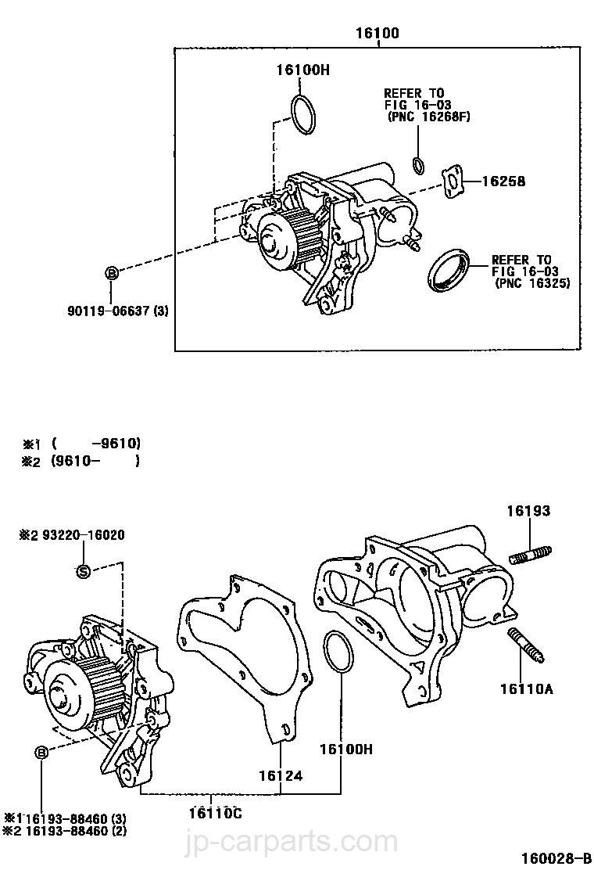 Engine Water Pump Gasket-Gasket-Water Pump 16258-74021