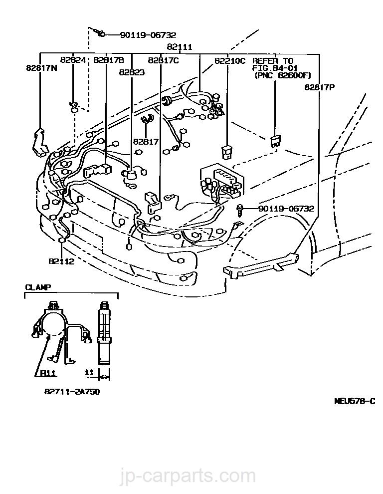 Door Wiring Harness Connector Toyota