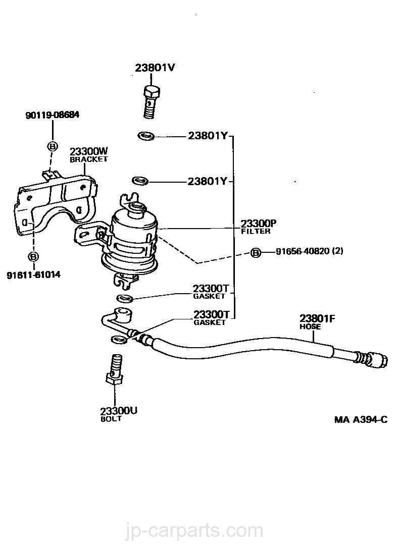 Toyota 17347-42020 Idle Speed Control Valve Hose