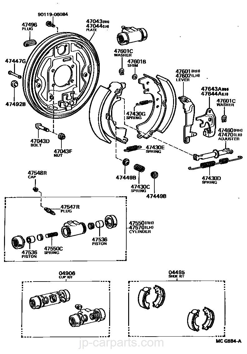 TOYOTA 47051-22020 Drum Brake Wheel Cylinder Piston
